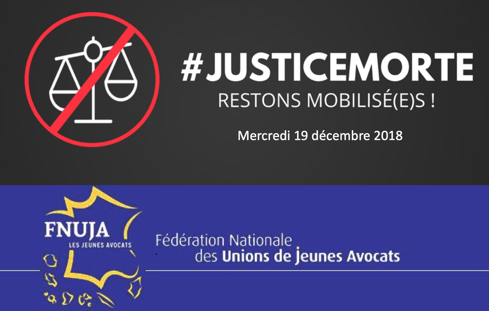 """Mobilisation contre le PLJ Justice - Nouvelle journée """"Justice morte"""" le 19 décembre !"""