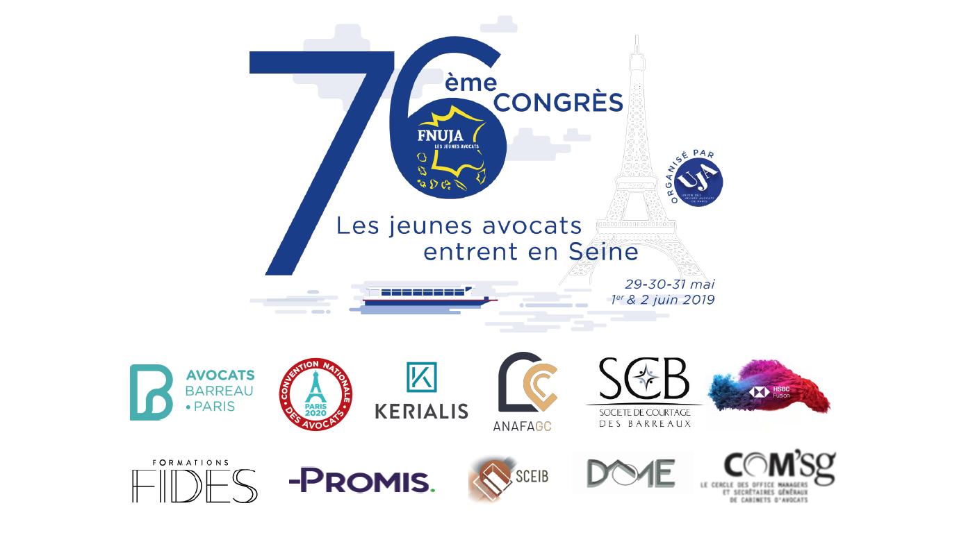 Les jeunes avocats entrent en Seine ! - 76ème Congrès de la FNUJA à Paris du 29 mai au 2 juin 2019 !!!