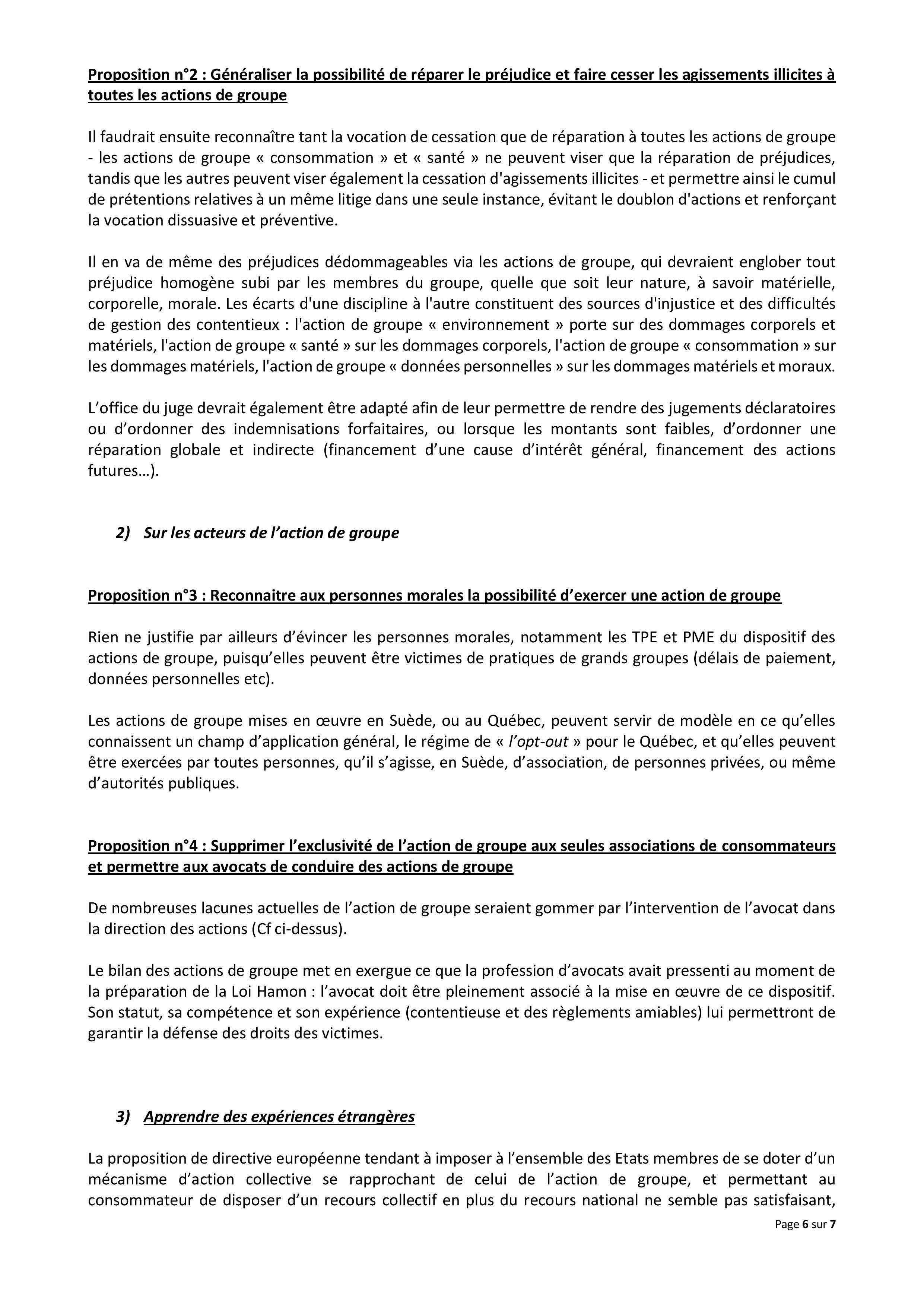 """Audition à l'Assemblée Nationale de la FNUJA """"action groupe"""""""