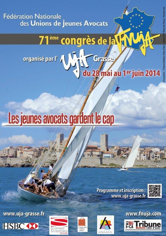 71e CONGRES de la FNUJA : du 28 Mai au 1er Juin 2014 à ANTIBES