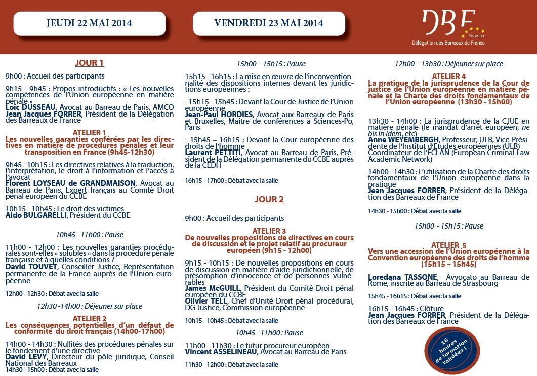 DBF - Séminaire : Droit pénal et Droits fondamentaux : Le renforcement de la place de l'avocat