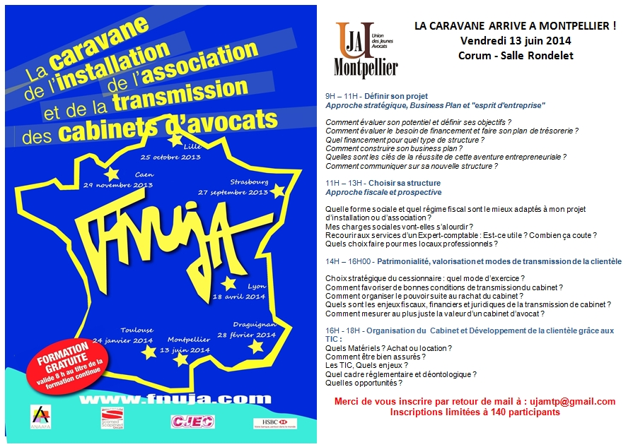 CARAVANE DE L'INSTALLATION : Date supplémentaire !