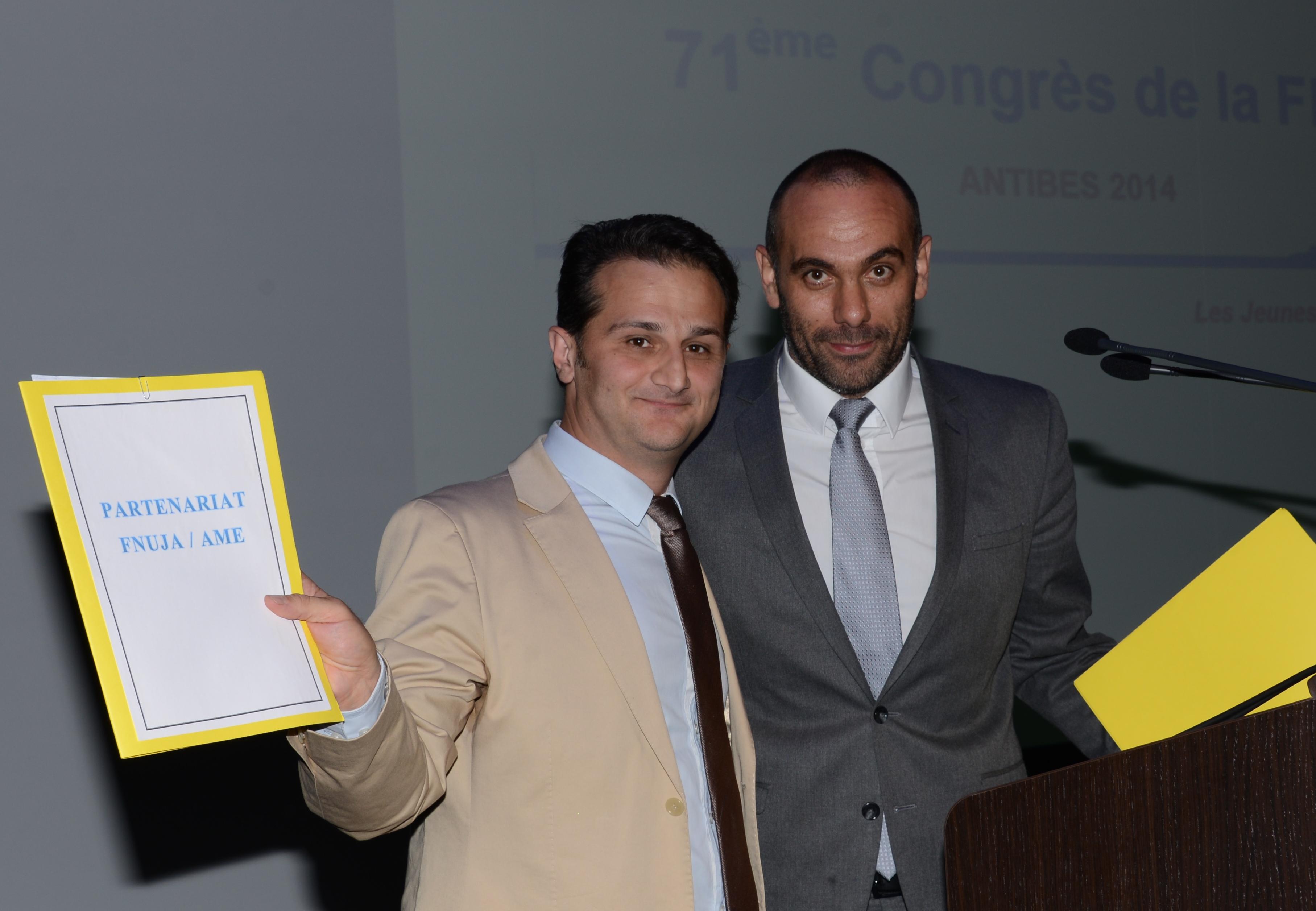 Hirbod DEHGHANI-AZAR, Président de l'AME et Roland RODRIGUEZ, Président (2013/2014) de la FNUJA