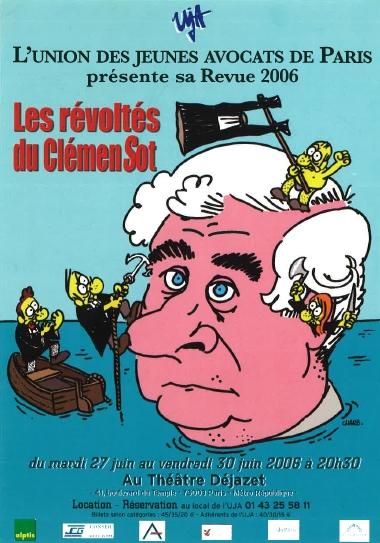 CHARB - Affiche de la Revue de l'UJA de Paris 2006
