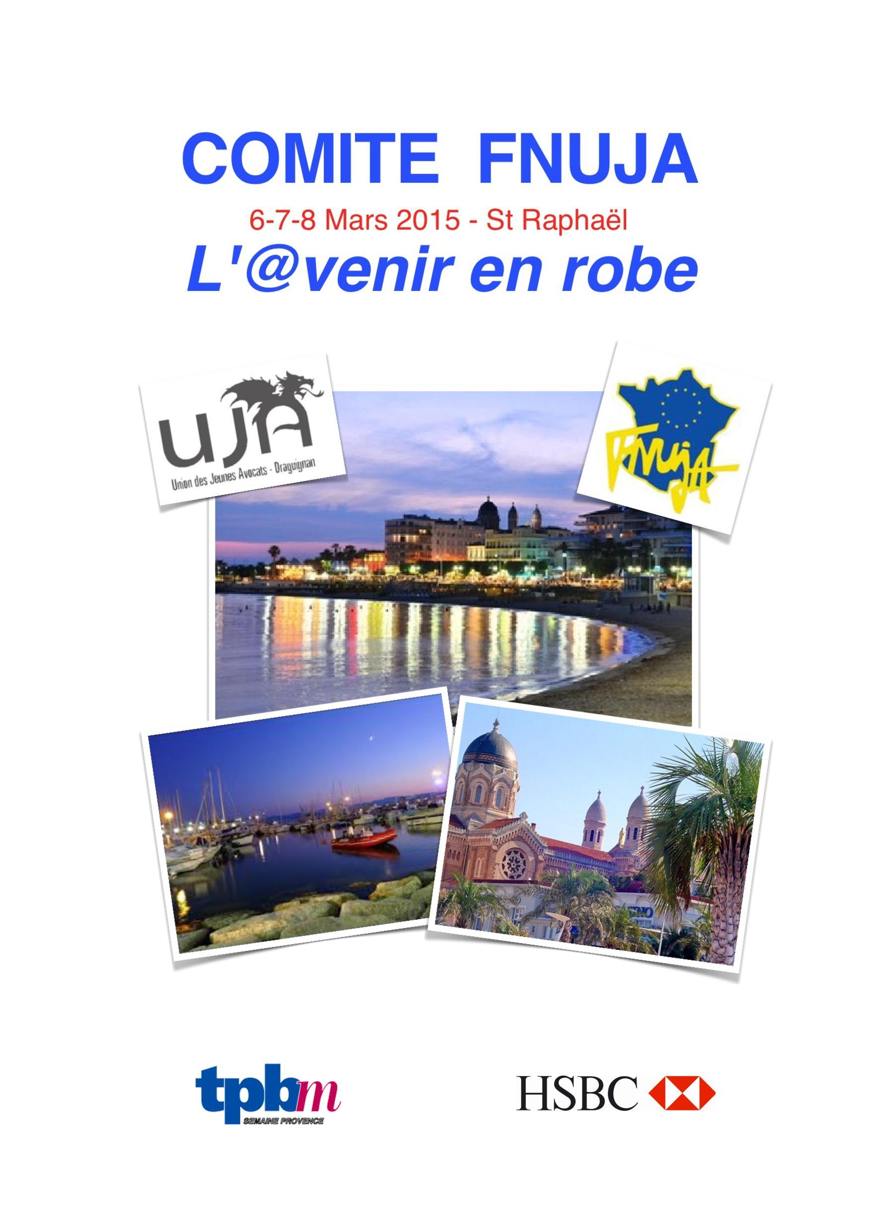 Comité décentralisé du 6 au 8 mars 2015 à Saint Raphaël