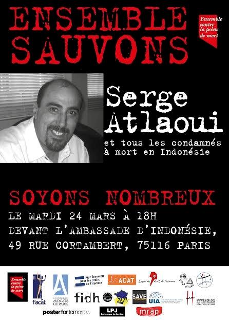 Justice pour Serge Atlaoui et les condamnés à mort en Indonésie