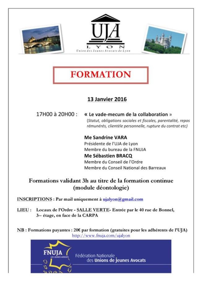 LYON - Formation: LE VADEMECUM DE LA COLLABORATION