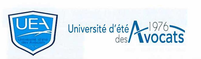 UNIVERSITE D'ETE DES AVOCATS 1976 - SESSION 2016