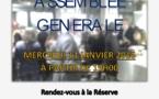LYON - ASSEMBLEE GENERALE le 13 janvier 2016