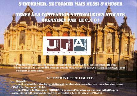 Venez à la Convention Nationale des Avocats avec le concours de l'UJA de BORDEAUX !