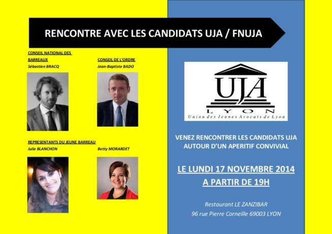 Rencontre avec les candidats UJA : 17 novembre à partir de 19h