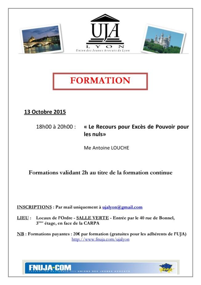 FORMATION DU 13 OCTOBRE 2015