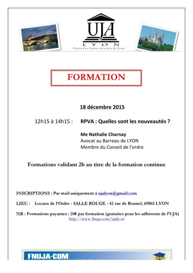 FORMATION 18 DECEMBRE 2015