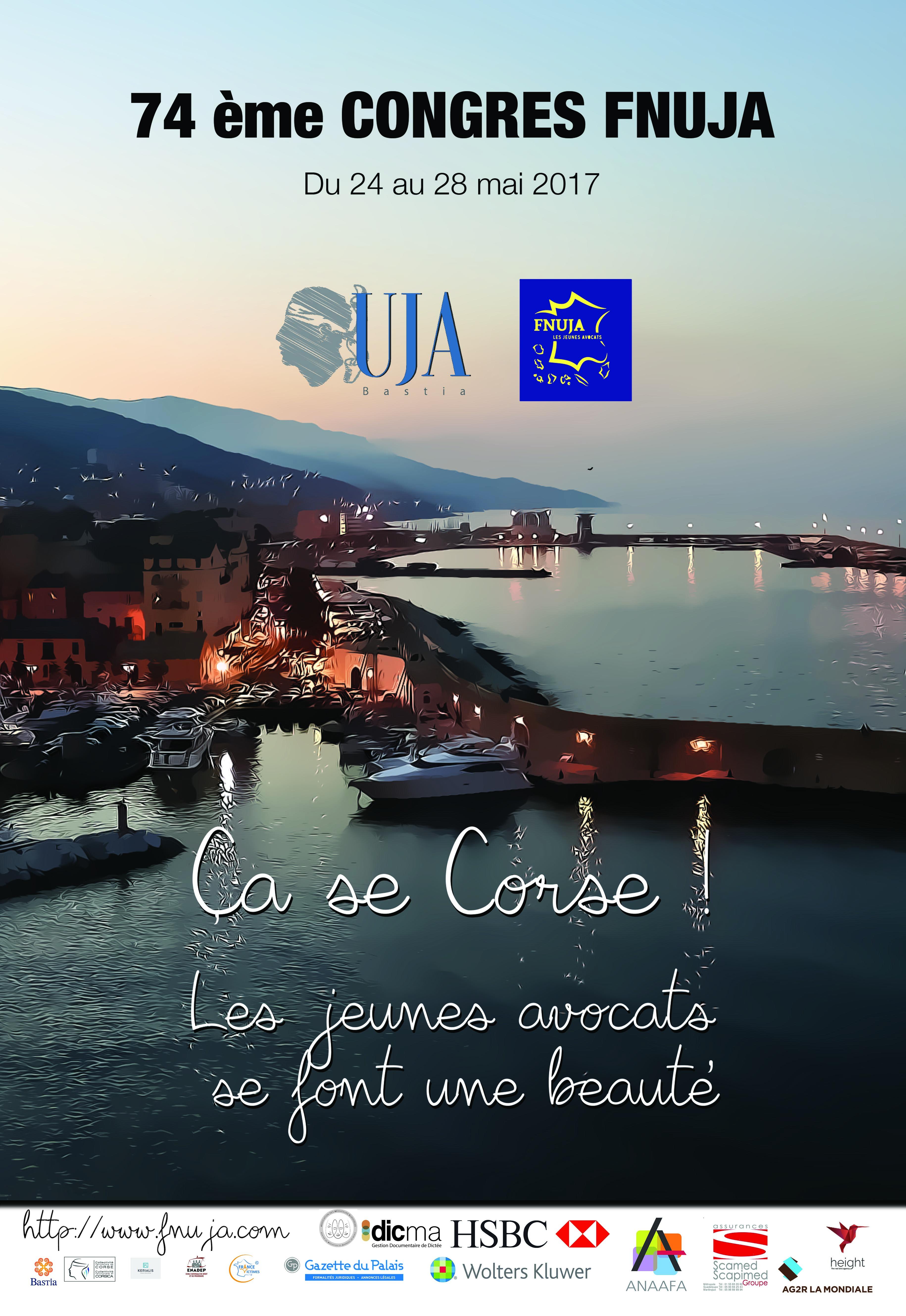 74eme Congrès de la FNUJA à Bastia du 24 au 28 mai 2017