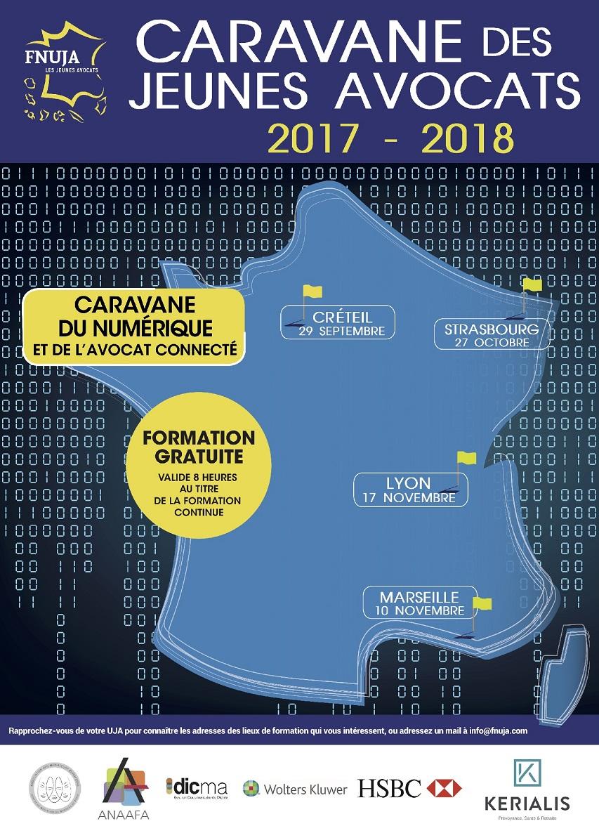 CARAVANE DU NUMERIQUE ET DE L'AVOCAT CONNECTE - A LYON le 17 Novembre 2017