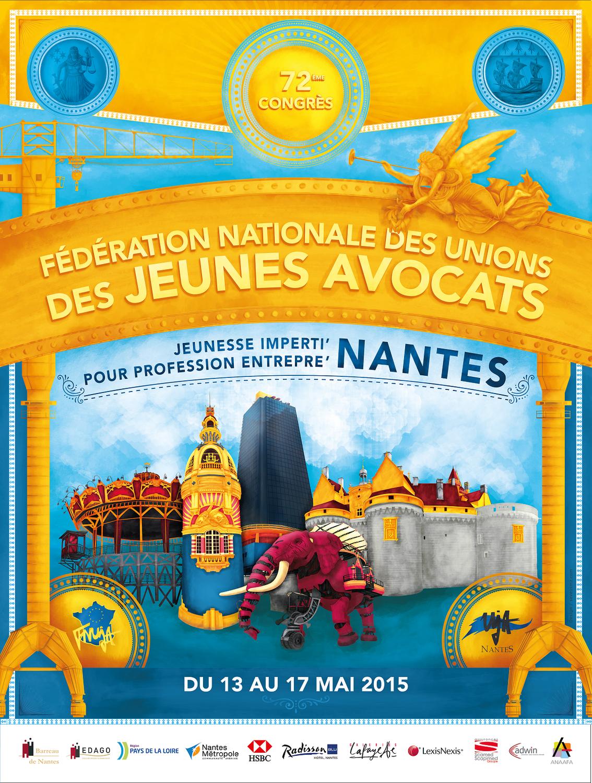 72eme CONGRES DE LA FNUJA à Nantes du 13 au 17 mai 2015