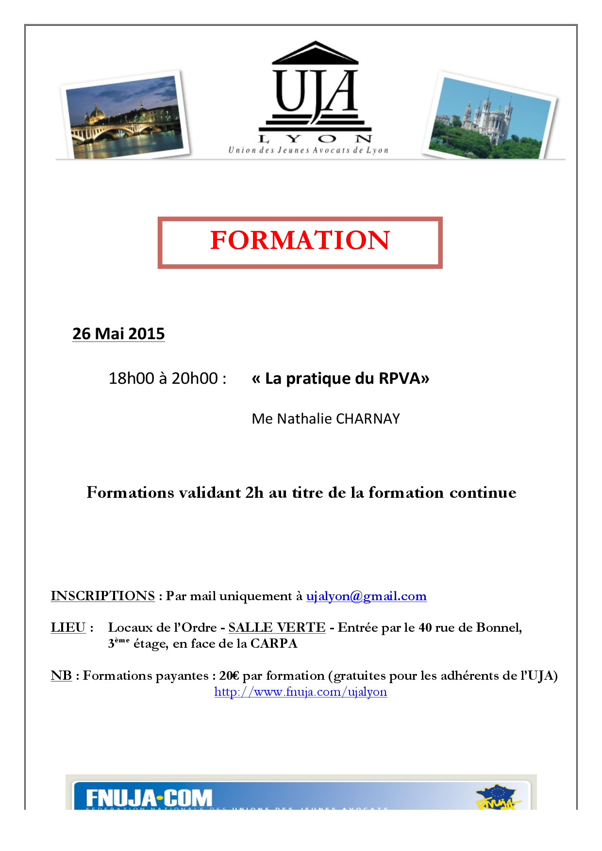 formation 26 mai 2015
