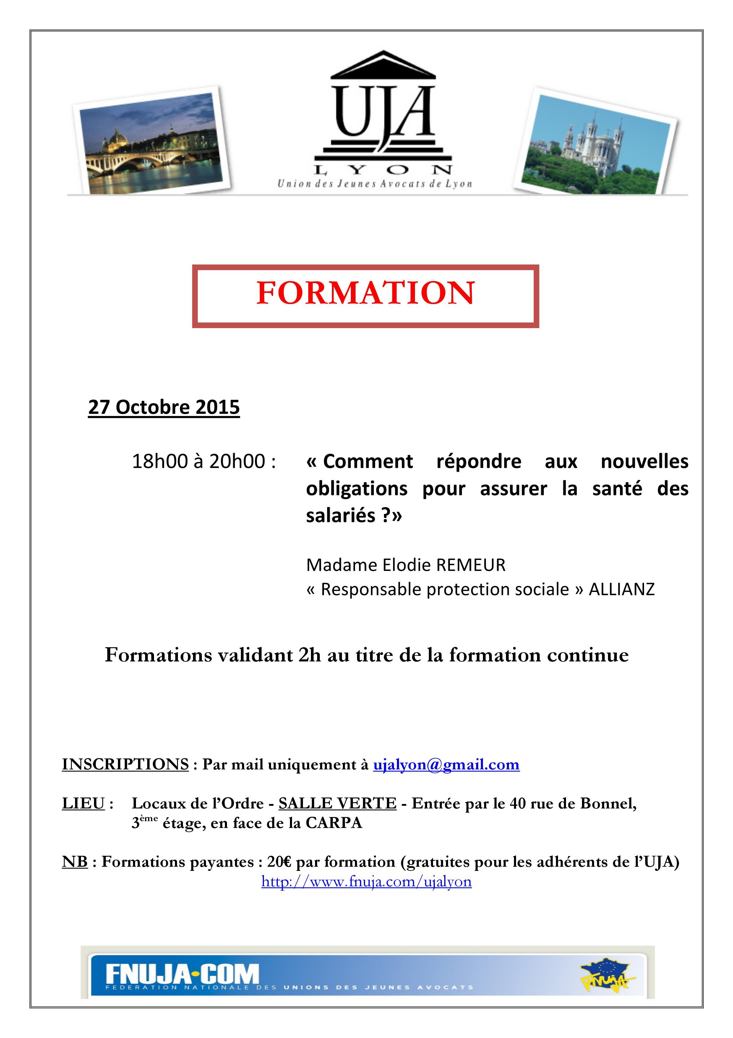 FORMATION 27 OCTOBRE 2015