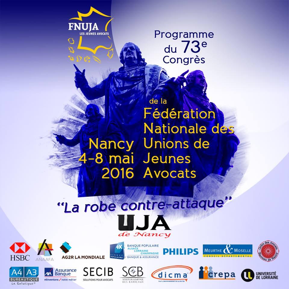 73ème Congrès de la FNUJA du 4 au 8 mai 2016 à NANCY