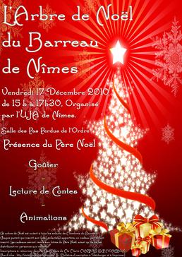 L'Arbre de Noël 2010 du Barreau de Nîmes