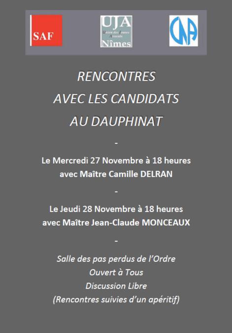 Rencontres avec les candidats au Dauphinat