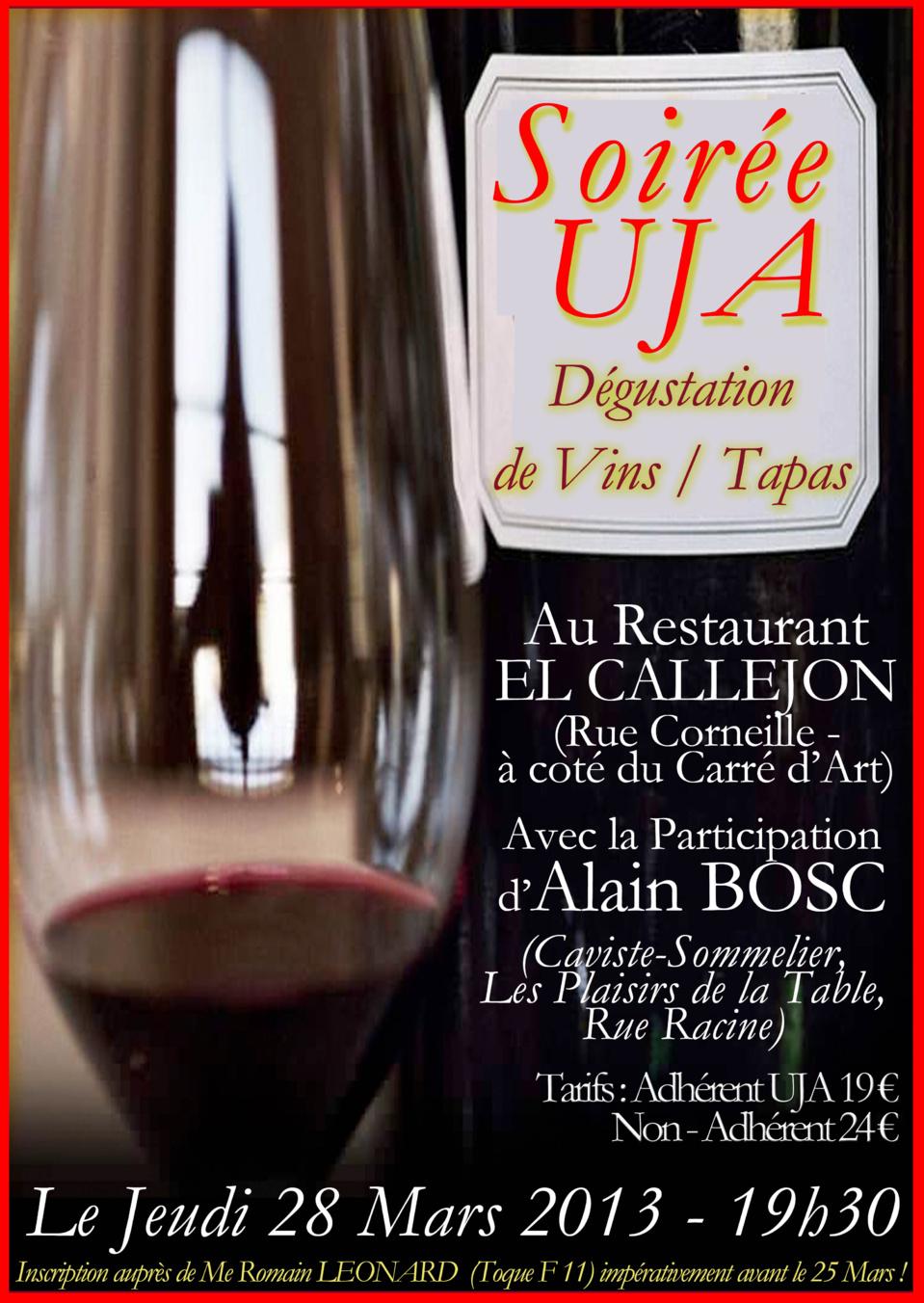 Soirée UJA - Dégustation de Vins / Tapas