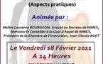 """Formation organisée par l'UJA de Nîmes et la FNUJA le 18 Février prochain sur le thème de la """"Chambre de l'Instruction"""""""